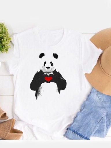 T-shirt biały Trzymaj serduszko Love&Live (zdjęcie 3)