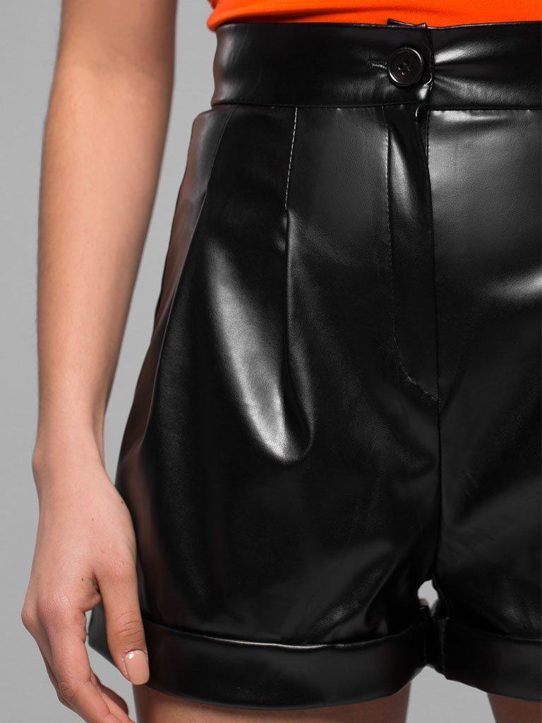 Czarne szorty z imitacji skóry Katarina Ivanenko (zdjęcie 5)