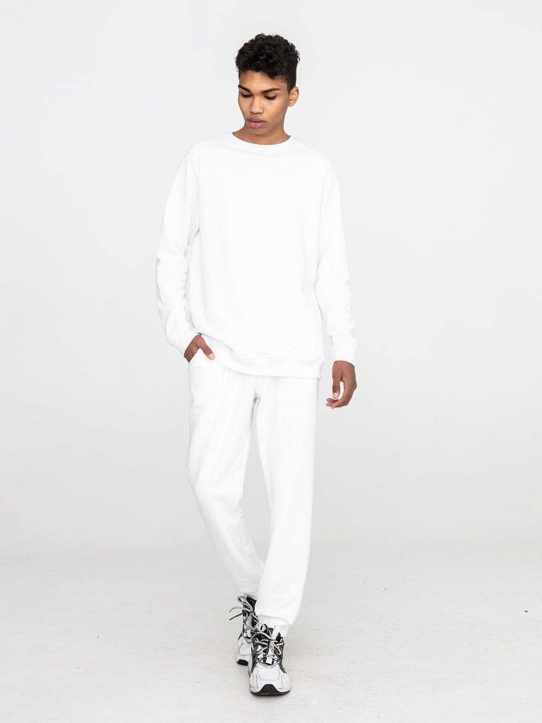 Biała bluza dresowa Love&Live