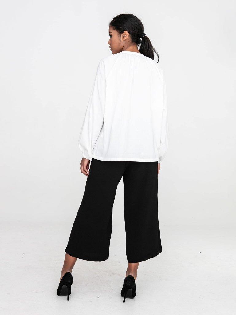 Bluzka oversize z popeliny w kolorze złamanej bieli Katarina Ivanenko (zdjęcie 5)