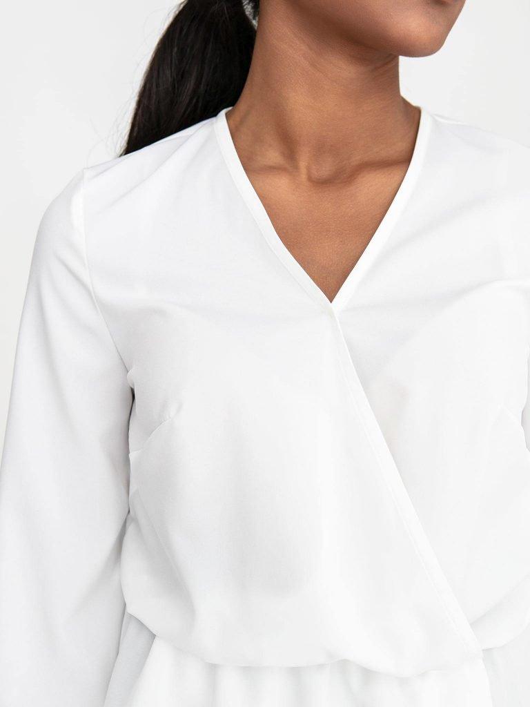 Kopertowa bluzka w kolorze złamanej bieli Katarina Ivanenko (zdjęcie 3)