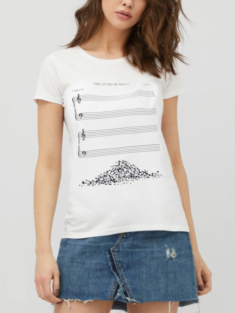 T-shirt biały Notes ZUZU