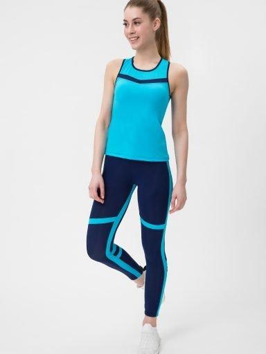 Niebieski strój fitness sportowy (koszulka, legginsy) Pure (zdjęcie 7)