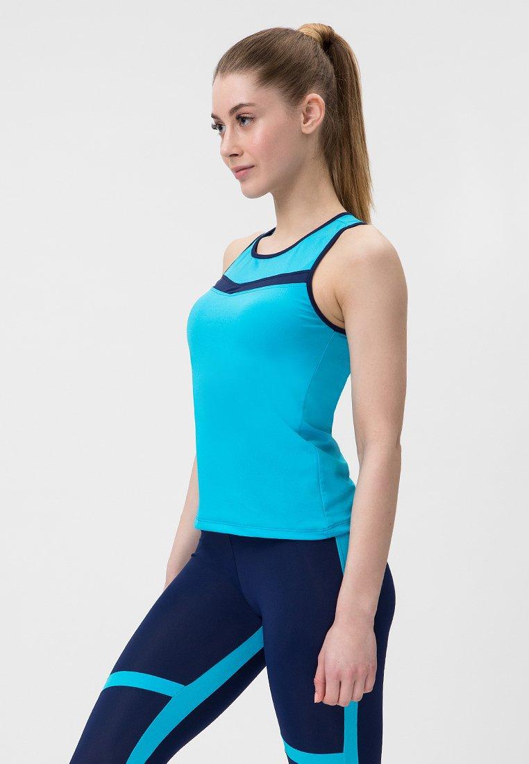 Niebieski strój fitness sportowy (koszulka, legginsy) Pure (zdjęcie 2)
