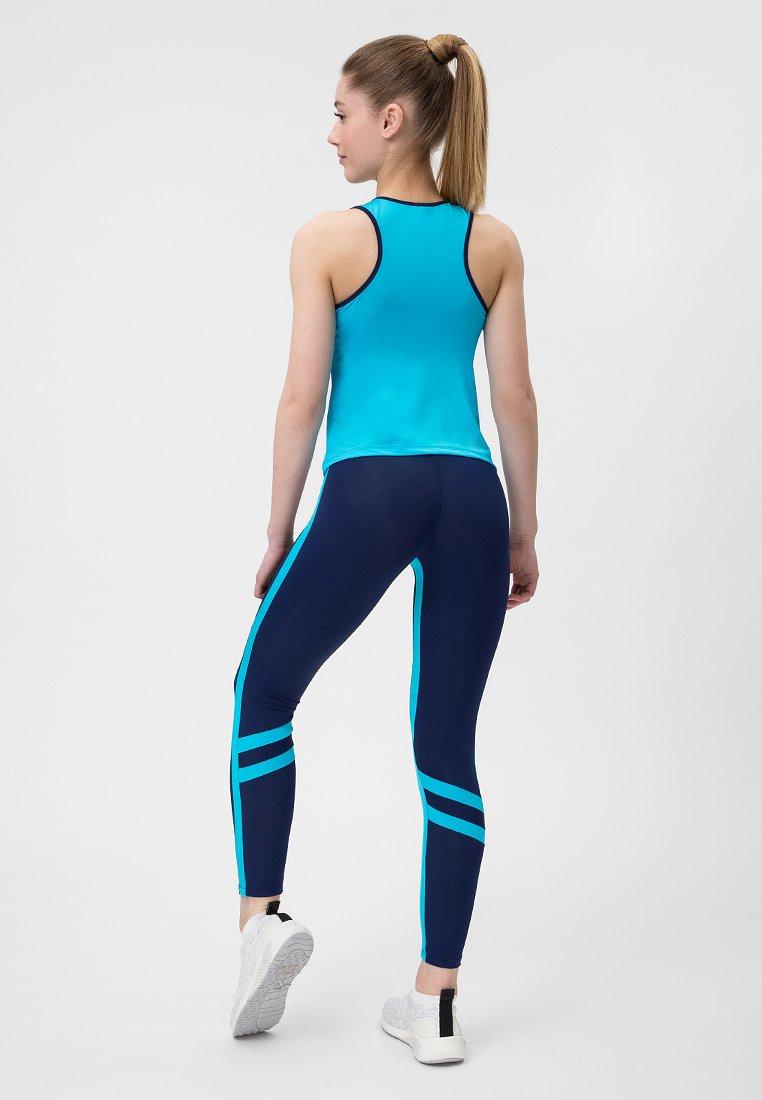 Niebieski strój fitness sportowy (koszulka, legginsy) Pure (zdjęcie 3)