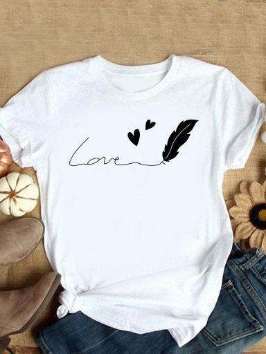 T-shirt biały Dla Ciebie piszę miłość Love&Live (zdjęcie 9)