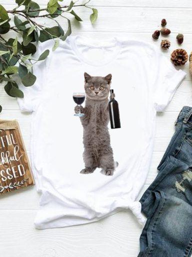 T-shirt biały Piątek Katarina Ivanenko (zdjęcie 18)