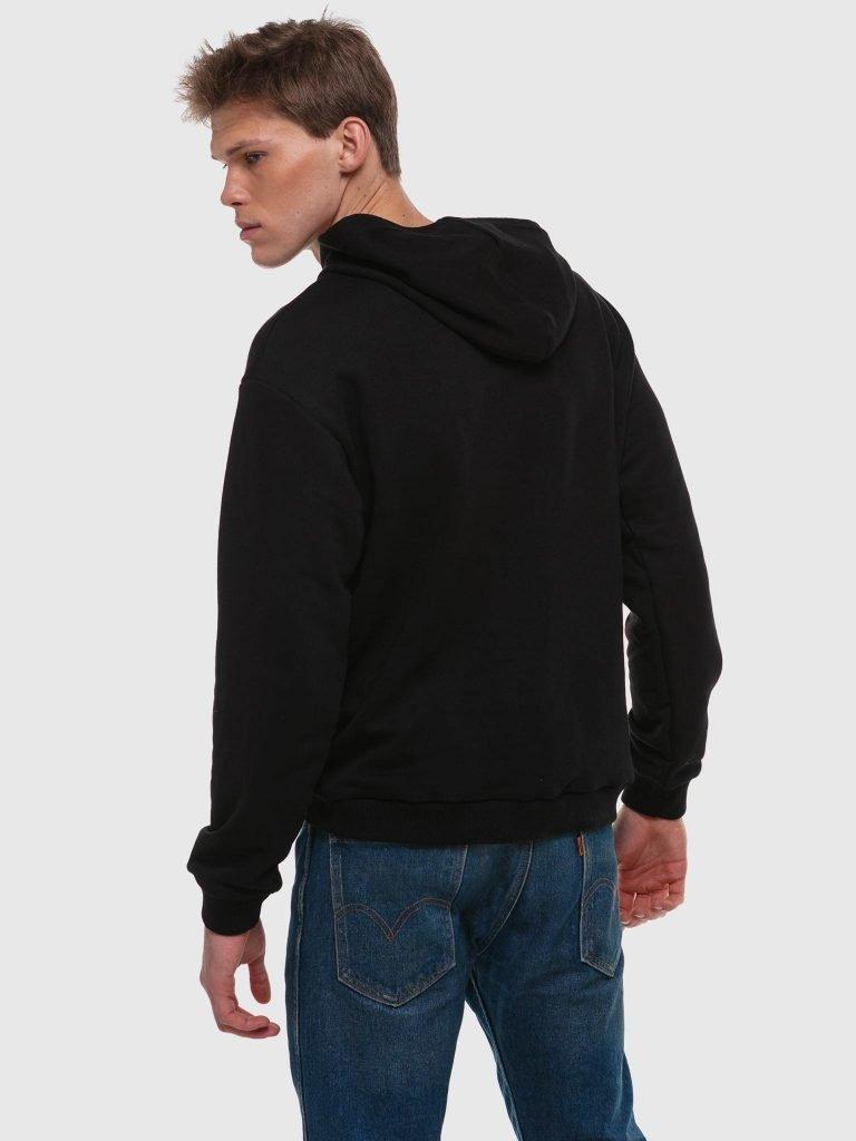 Czarna bluza z kapturem Katarina Ivanenko (zdjęcie 3)