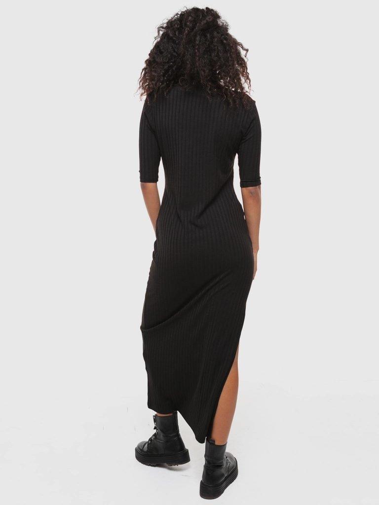 Sukienka o dopasowanym fasonie z krótkim rękawem Love&Live (zdjęcie 2)