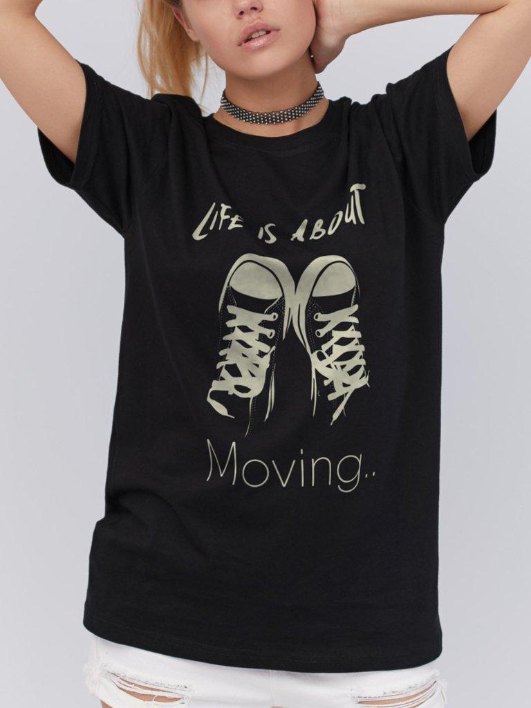T-shirt czarny About moving ZUZU