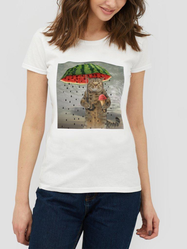 T-shirt biały Rainy day ZUZU