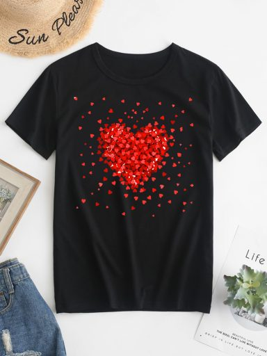 T-shirt czarny Kawałki miłości Love&Live