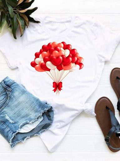 T-shirt biały Balonowa miłość Love&Live (zdjęcie 17)