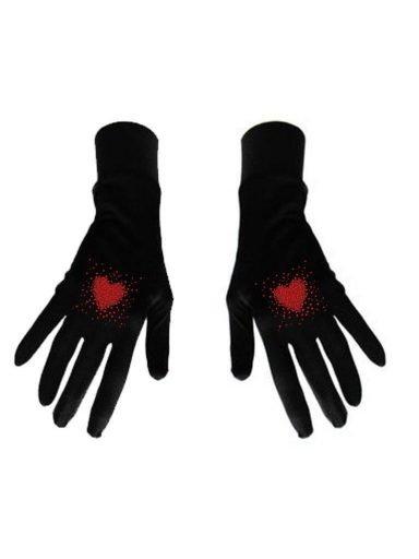 Damskie rękawice bawełniane czarne z nadrukiem Kawałki miłości Katarina Ivanenko (zdjęcie 14)