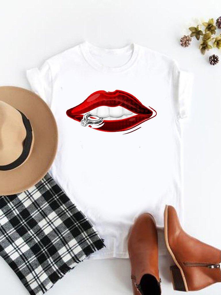 T-shirt biały Pierścionek Katarina Ivanenko
