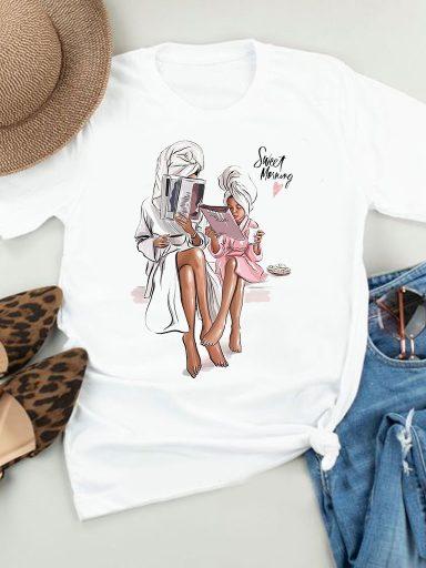 T-shirt biały Sweet morning Love&Live (zdjęcie 2)