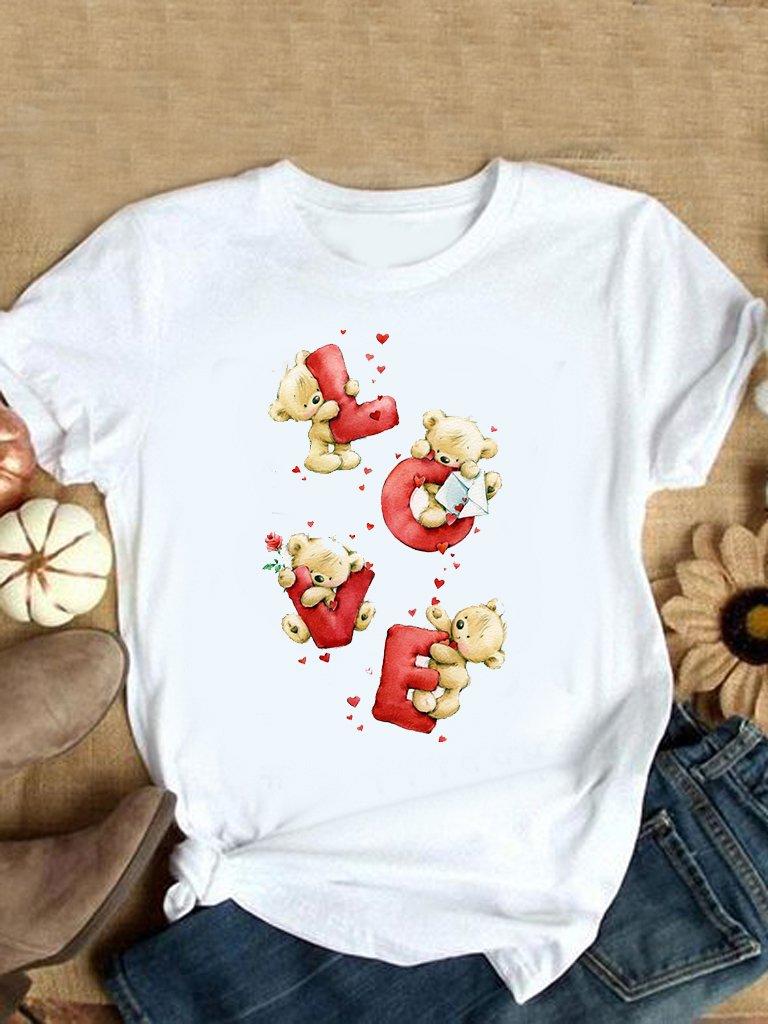 T-shirt biały Teddy love Love&Live