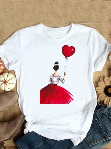 T-shirt biały With love Love&Live