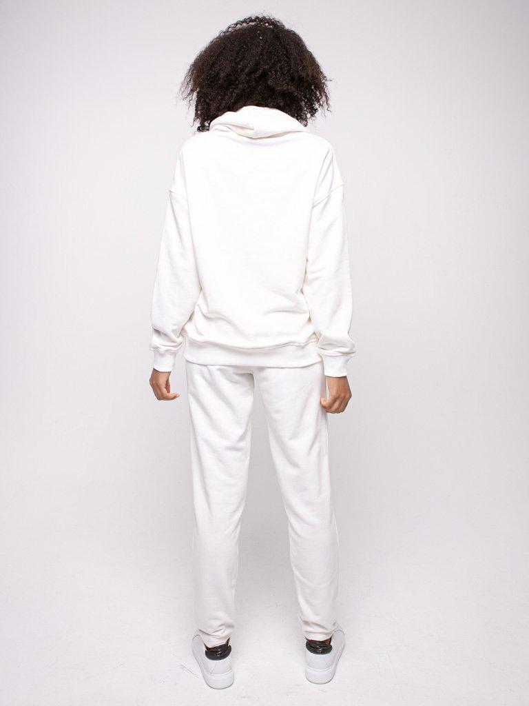 Bluza z kapturem damska w kolorze złamanej bieli Love&Live (zdjęcie 3)