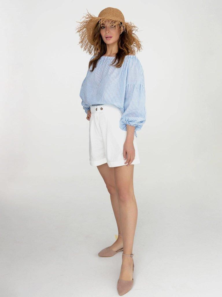 Niebiesko biała bluzka w paski Katarina Ivanenko (zdjęcie 2)