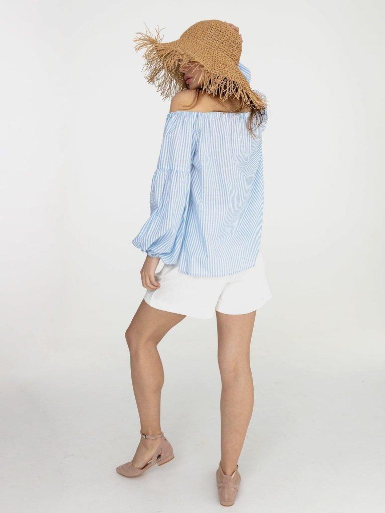 Niebiesko biała bluzka w paski Katarina Ivanenko (zdjęcie 3)