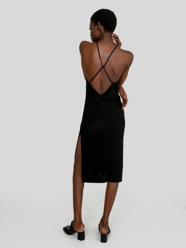 Odsłaniająca plecy sukienka maxi w kolorze czarnym Katarina Ivanenko (zdjęcie 17)