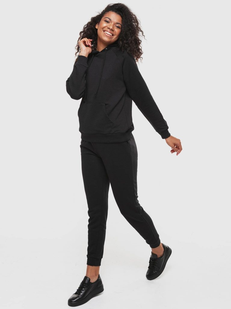 Bluza z kapturem damska w kolorze czarnym Love&Live (zdjęcie 3)