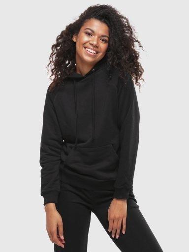 Bluza z kapturem damska w kolorze czarnym Love&Live