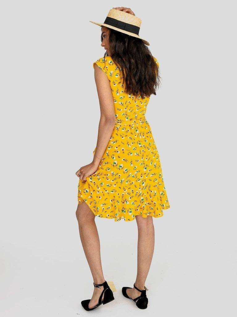 Sukienka mini na ramiączkach w kolorze ciepłego beżu Love&Live (zdjęcie 4)