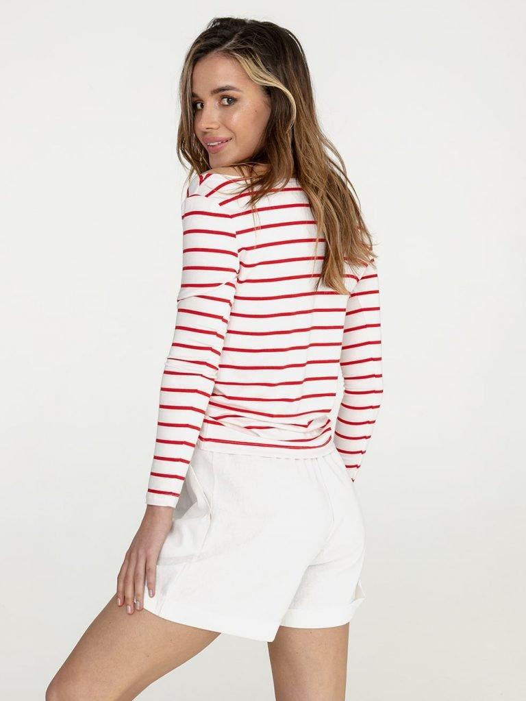 Biało czerwona koszulka w paski Katarina Ivanenko (zdjęcie 3)