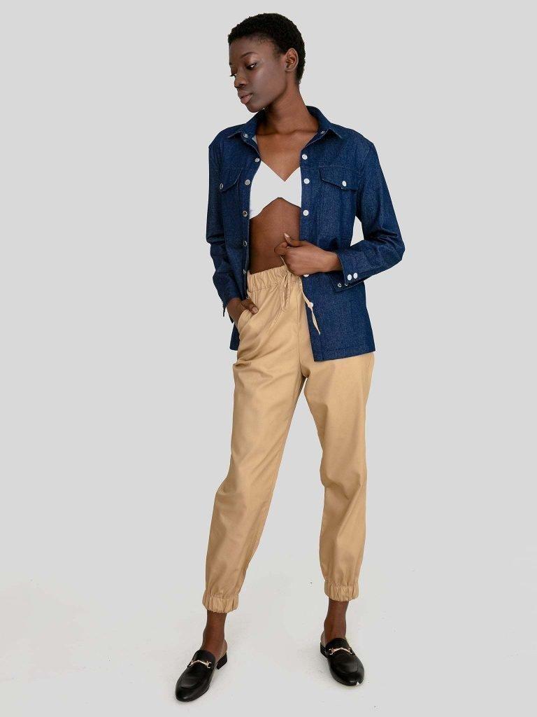 Ciemnoniebieska koszula jeansowa Love&Live