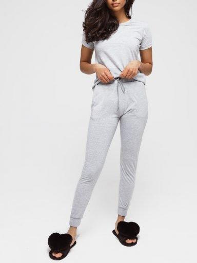Spodnie dresowe skinny na gumce w kolorze szarym Love&Live