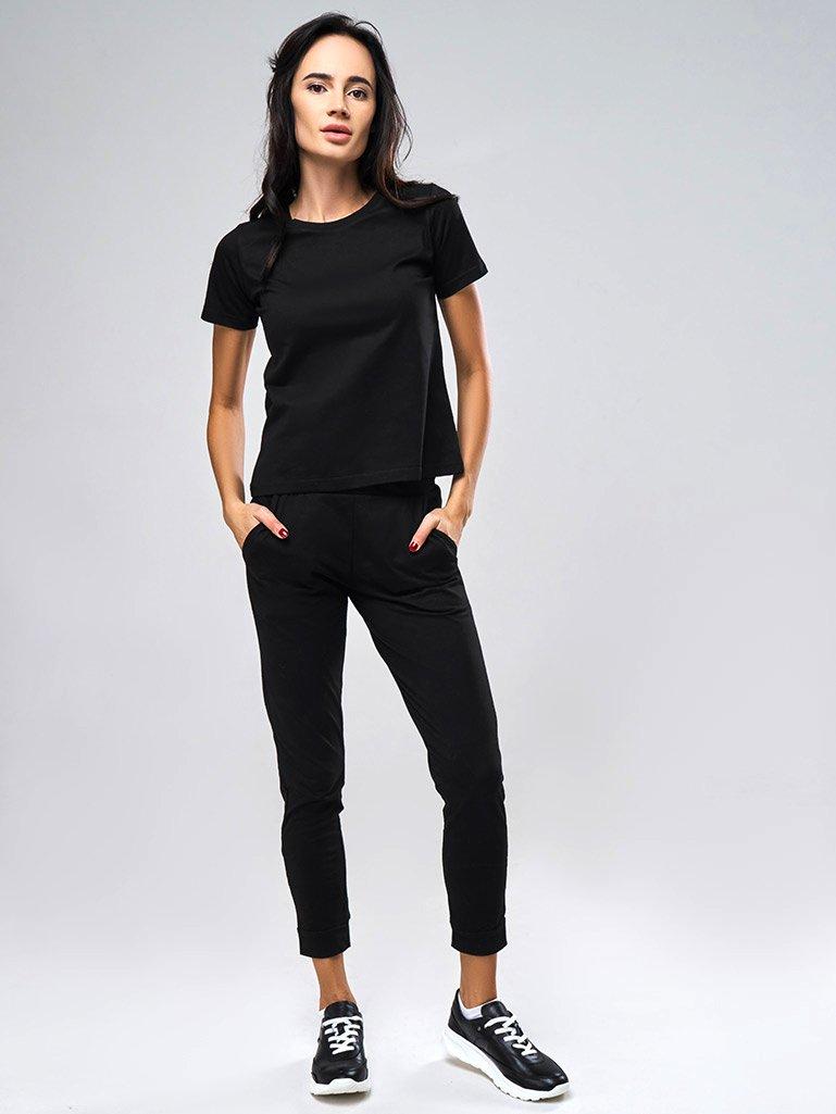 Spodnie dresowe skinny na gumce w kolorze czarnym Love&Live (zdjęcie 3)