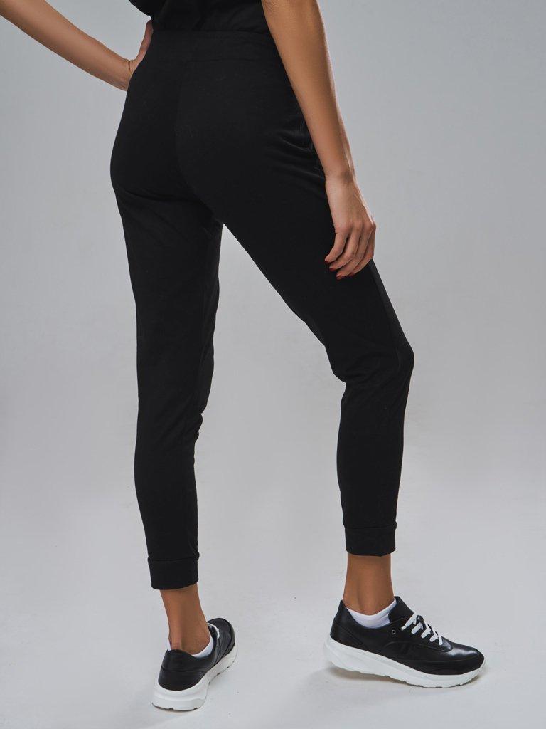 Spodnie dresowe skinny na gumce w kolorze czarnym Love&Live (zdjęcie 2)