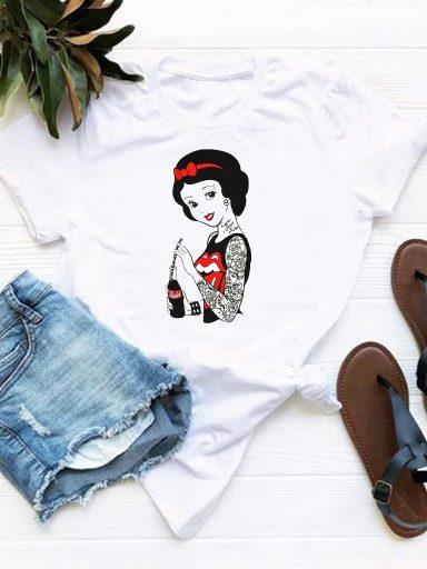 T-shirt biały Kobiecość Love&Live