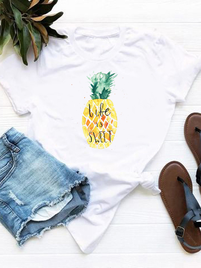 T-shirt biały Life is sweet Love&Live