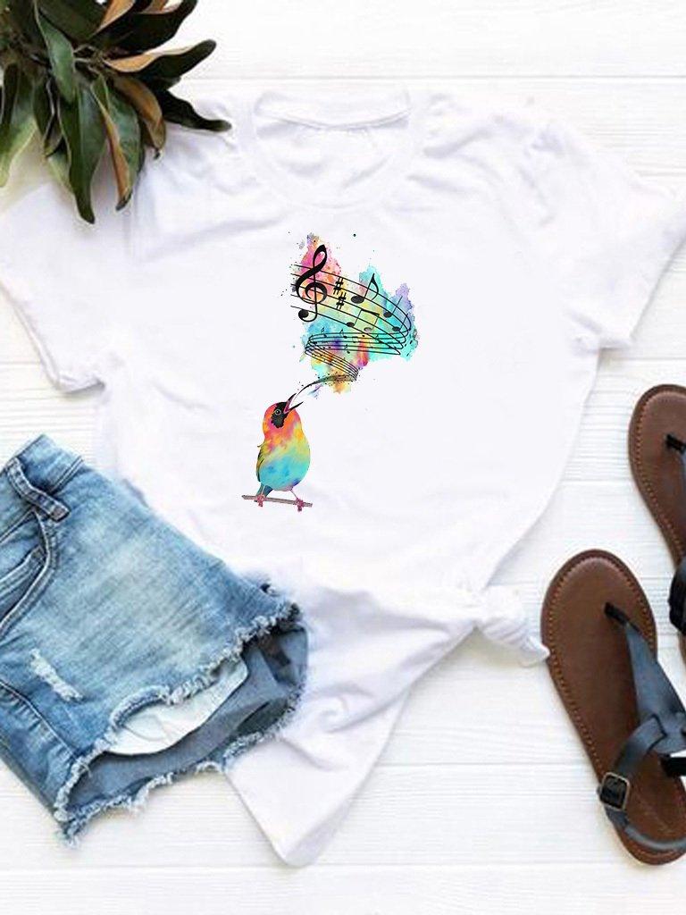 T-shirt biały Uderzyć w nutę Love&Live