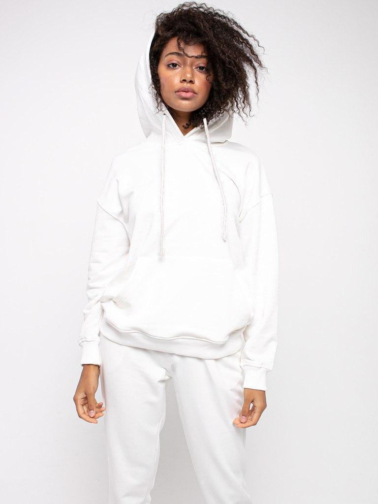 Bluza z kapturem damska w kolorze złamanej bieli Love&Live (zdjęcie 2)