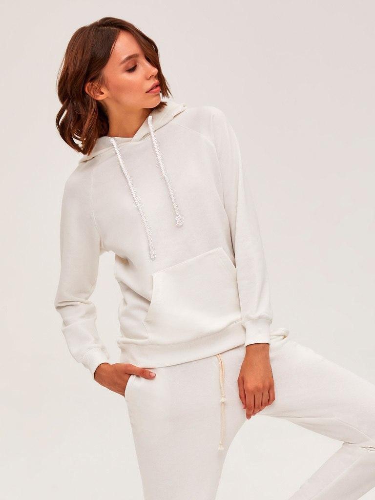 Bluza z kapturem damska w kolorze złamanej bieli Love&Live