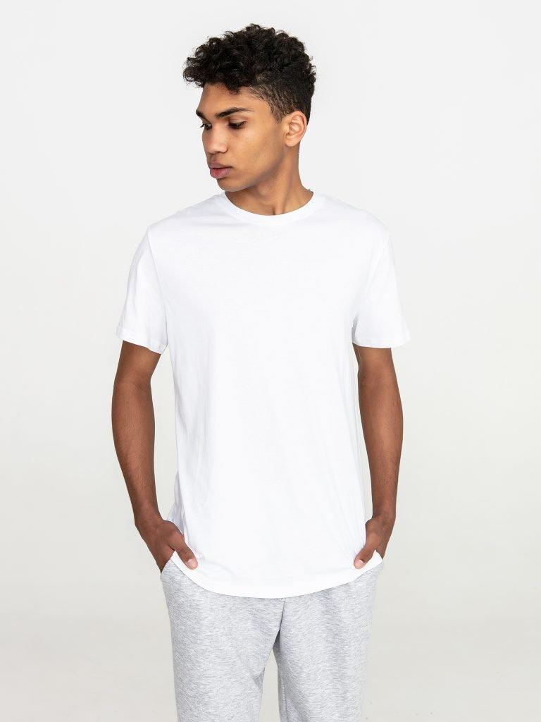 T-shirt męski biały z okrągłym dekoltem Katarina Ivanenko (zdjęcie 3)