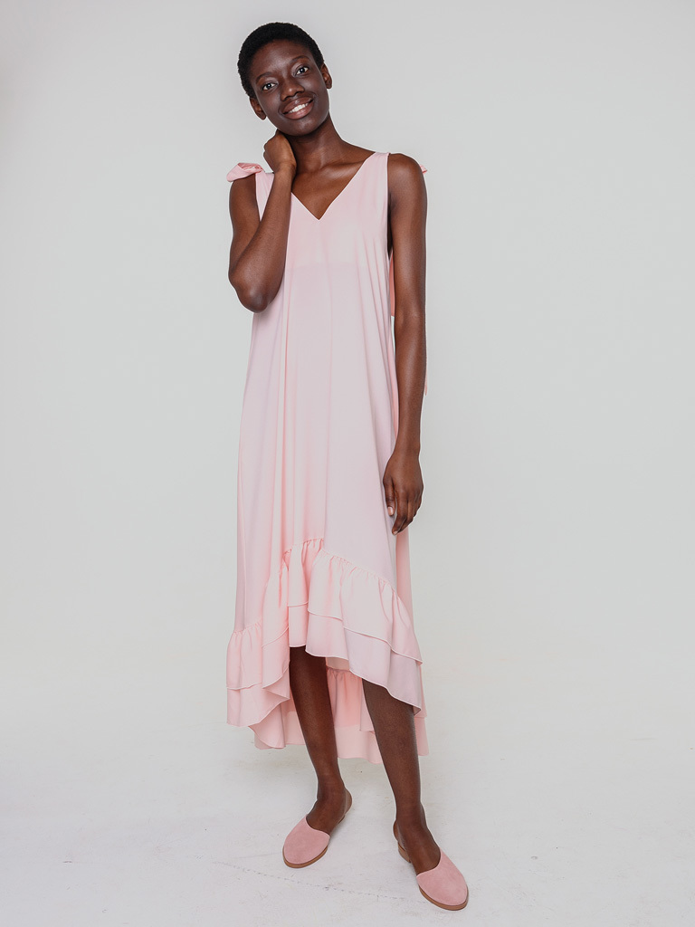 Sukienka maxi w kolorze brzoskwinowym Love&Live (zdjęcie 2)