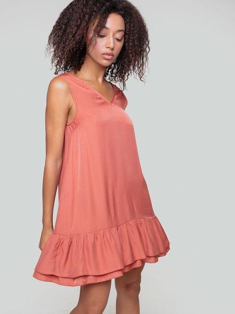 Sukienka mini w kolorze brzoskwiniowym Love&Live (zdjęcie 2)