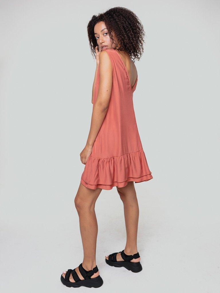 Sukienka mini w kolorze brzoskwiniowym Love&Live (zdjęcie 3)