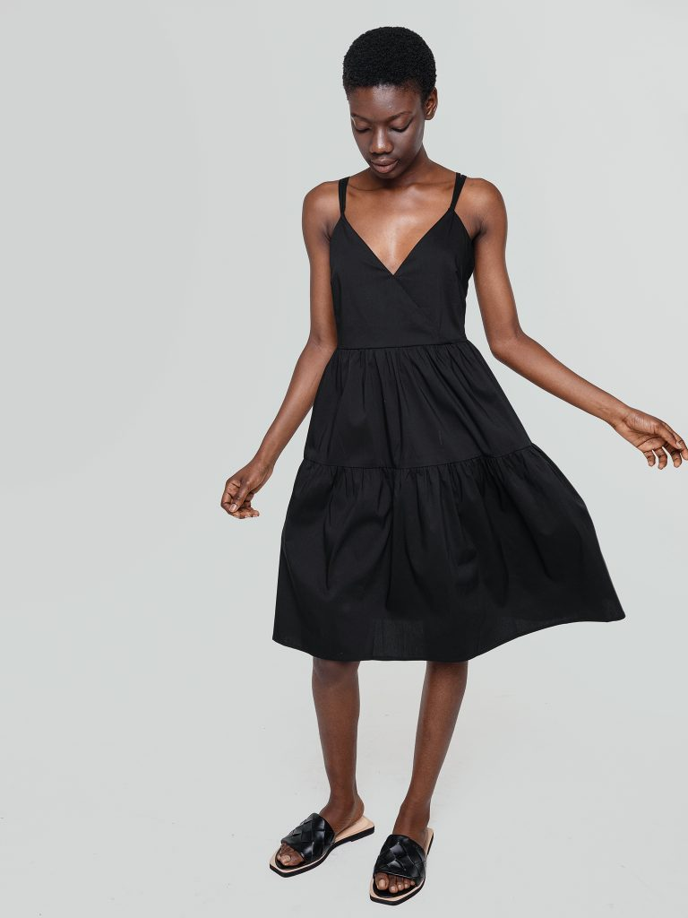 Sukienka bieliźniana mini w kolorze musztardowym Love&Live (zdjęcie 3)