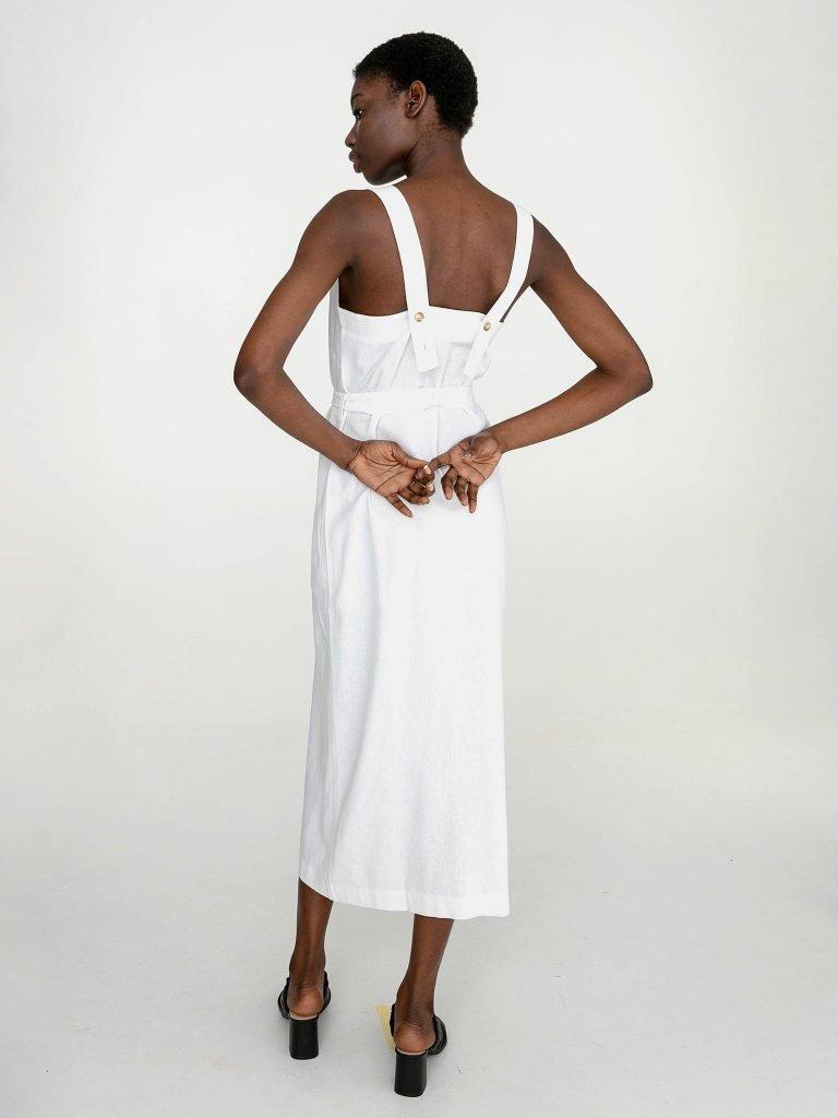 Lniana sukienka maxi w kolorze bieli Katarina Ivanenko (zdjęcie 4)