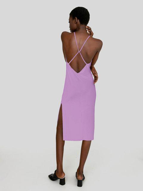 Odsłaniająca plecy sukienka w kolorze fiołkowym Katarina Ivanenko
