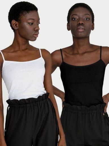 Zestaw koszulek na ramiączkach (czarna, biała) Love&Live