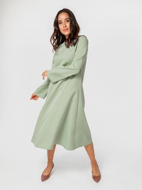 Sukienka midi z długim rękawem w kolorze mięty Katarina Ivanenko