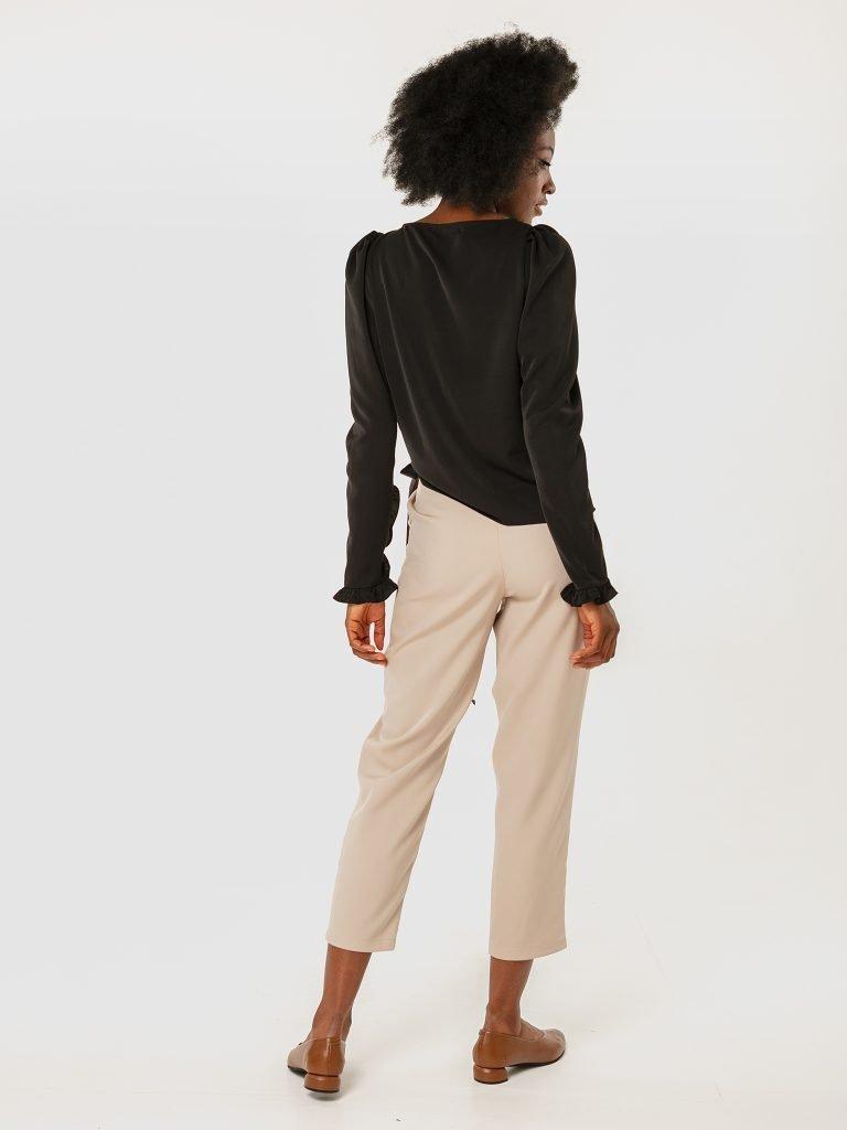 Spodnie szaro-beżowe z zapachem Katarina Ivanenko (zdjęcie 3)