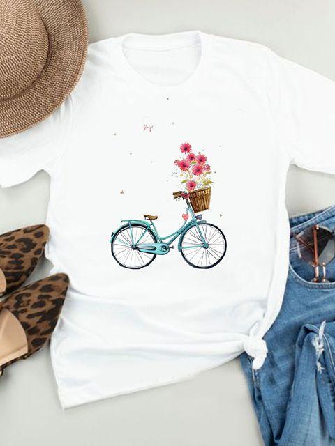 T-shirt biały Bukiet Love&Live